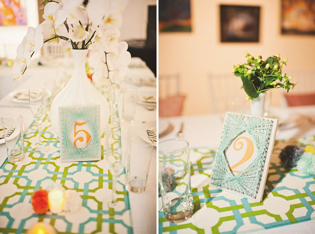 table numbers with string art