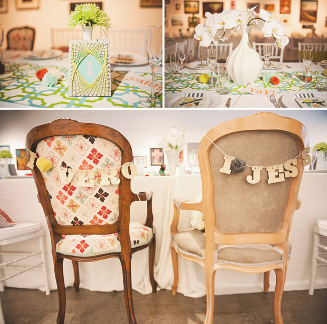 vintage wedding chairs for dinner