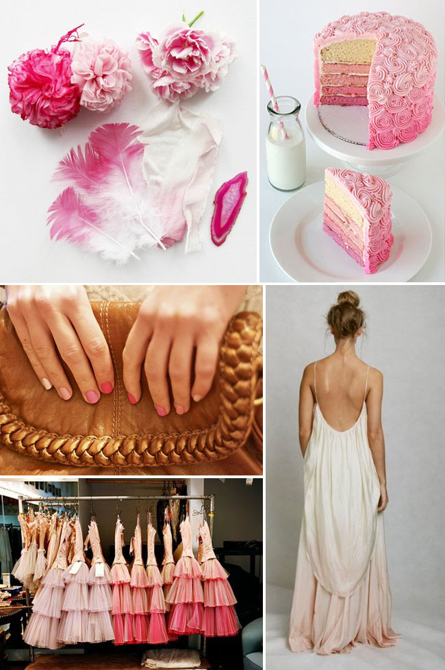 pink ombre wedding ideas