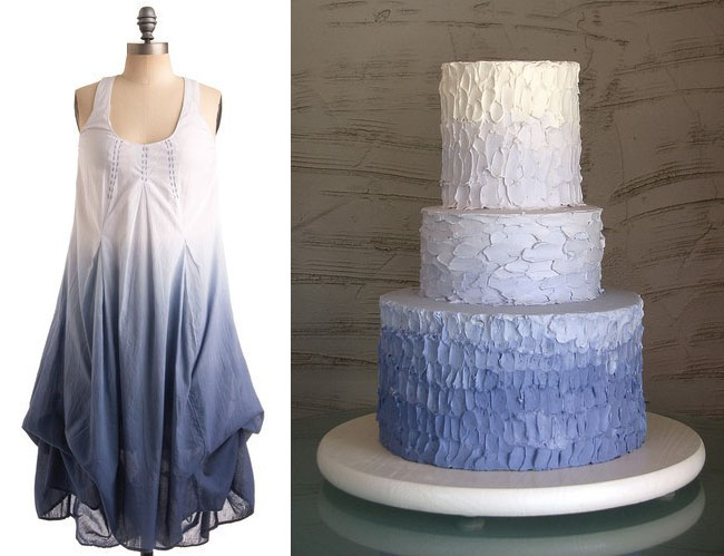 lavender ombre cake and dress