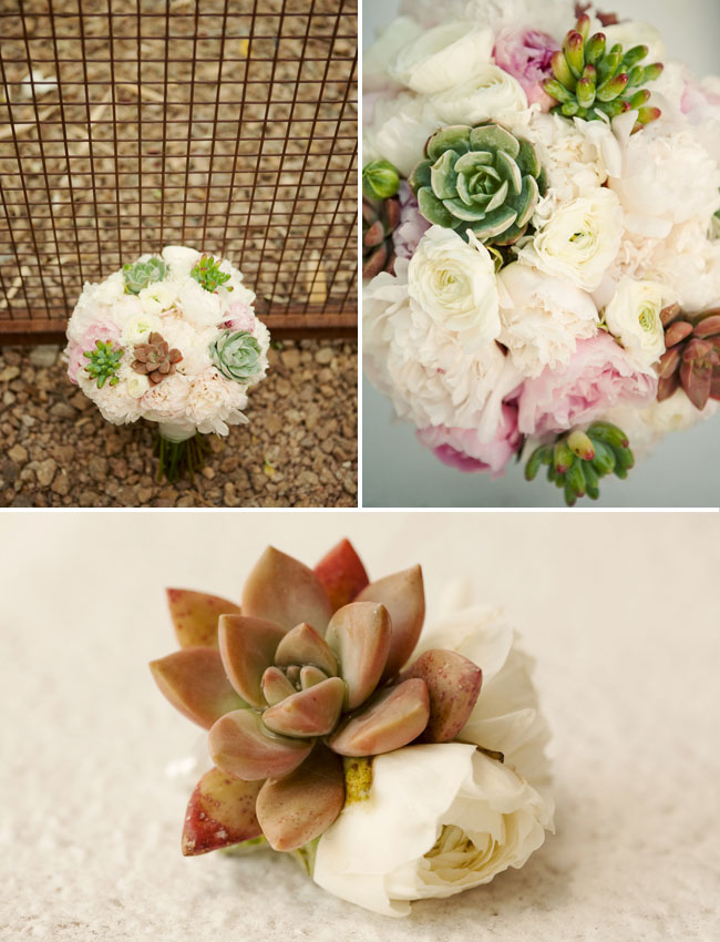 succulents wedding bouquet