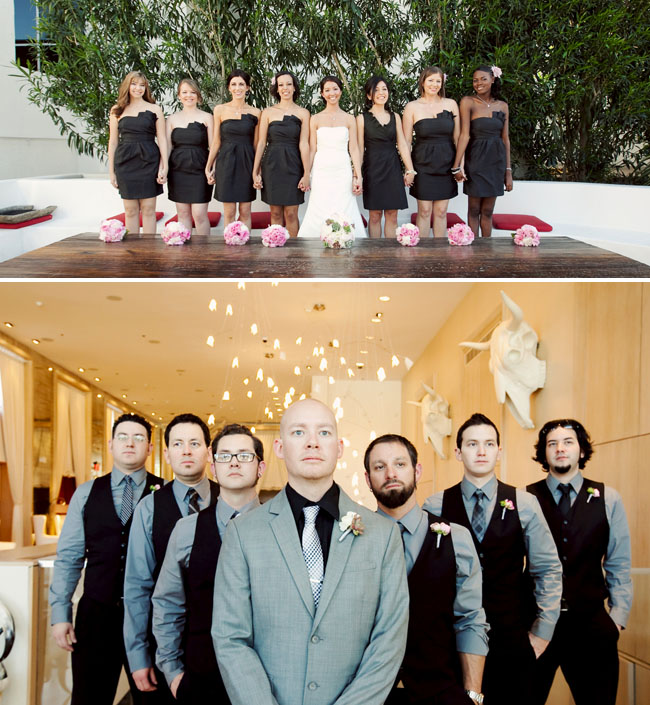 bridal party at design within reach