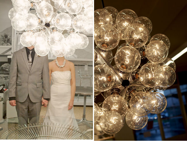 bride and groom at design within reach