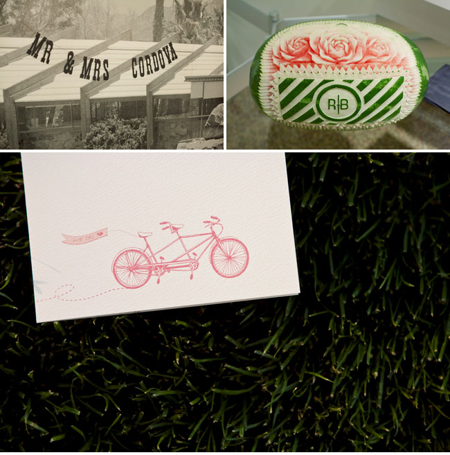 tandem bicycle wedding invite