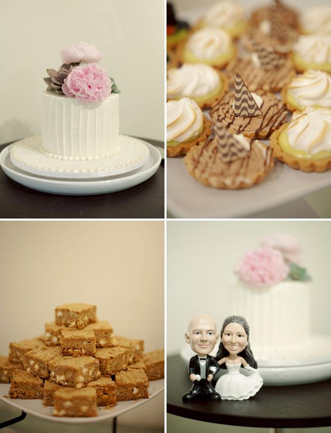 pink peony wedding cake topper