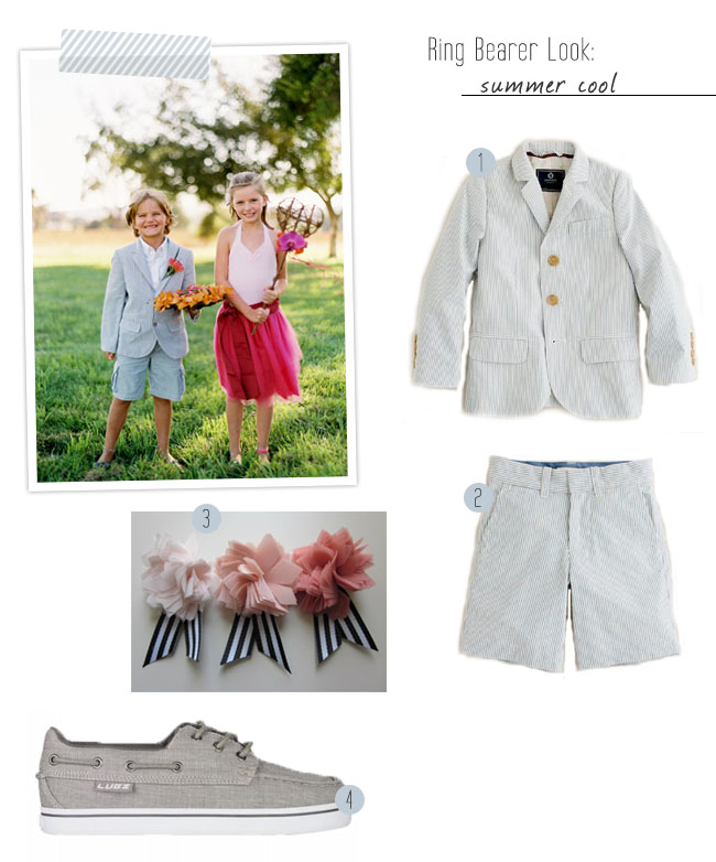 Ring Bearer Grey Shorts And Suspenders