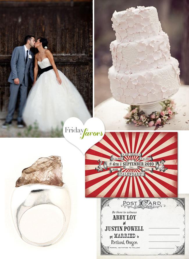 rose stone wedding ring