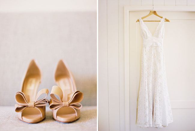 pink wedding shoes with bows