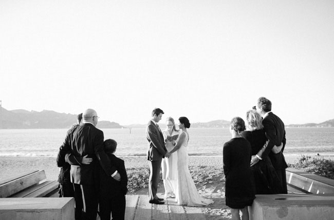 intimate wedding on the beach