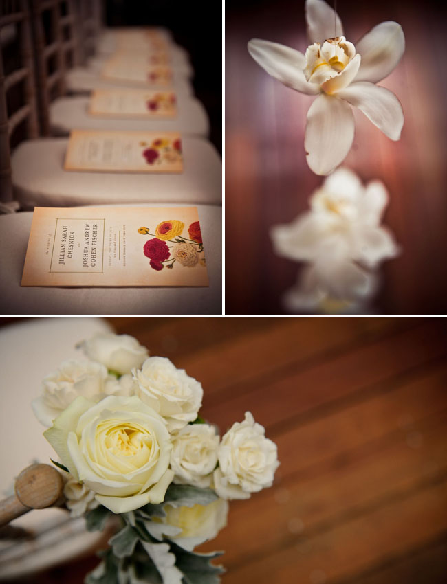 white flowers for ceremony