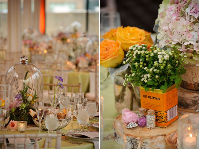 glass dome centerpieces