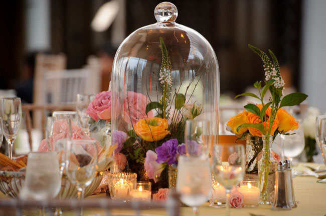 Glass Jar Centerpiece Ideas : Vintage flower market wedding green shoes
