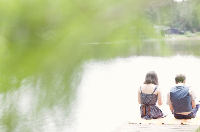 writing wedding vows near the swamp