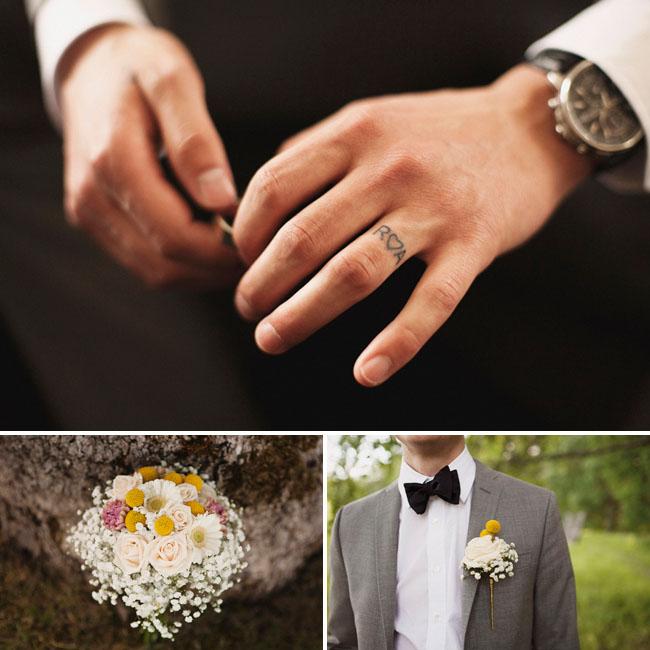 groom ring finger tattoo