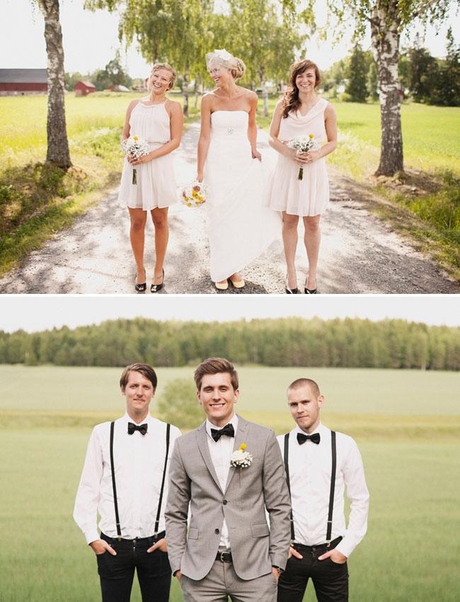 groomsmen in black bow ties