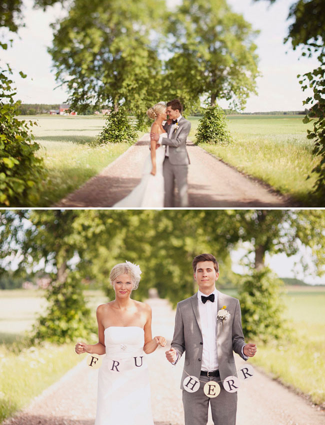 swedish wedding couple