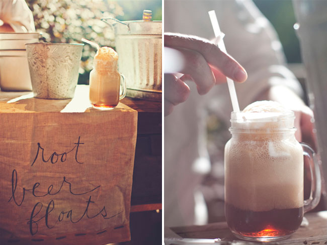 root beer floats wedding