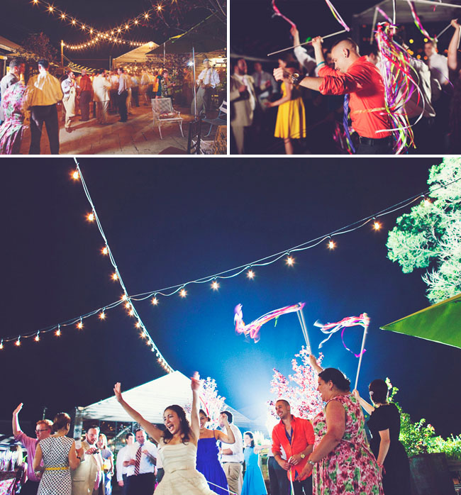 dancing outdoors wedding