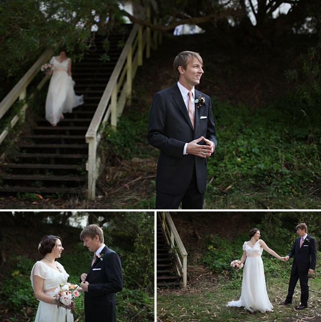 wedding first look photos