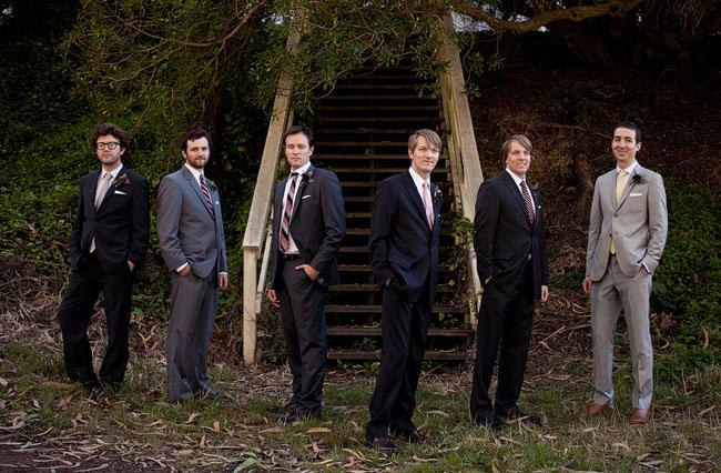 groomsmen in tuxes