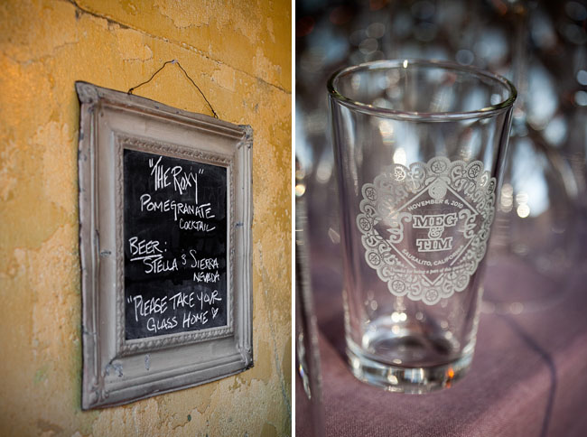 wedding cocktail and glass