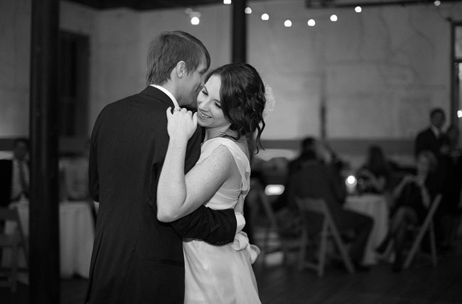 wedding first dance black and white