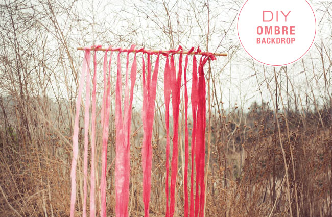 DIY ombre fabric backdrop