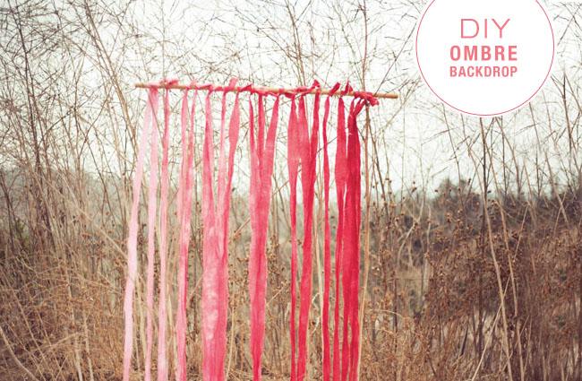 Diy Ombre Fabric Backdrop