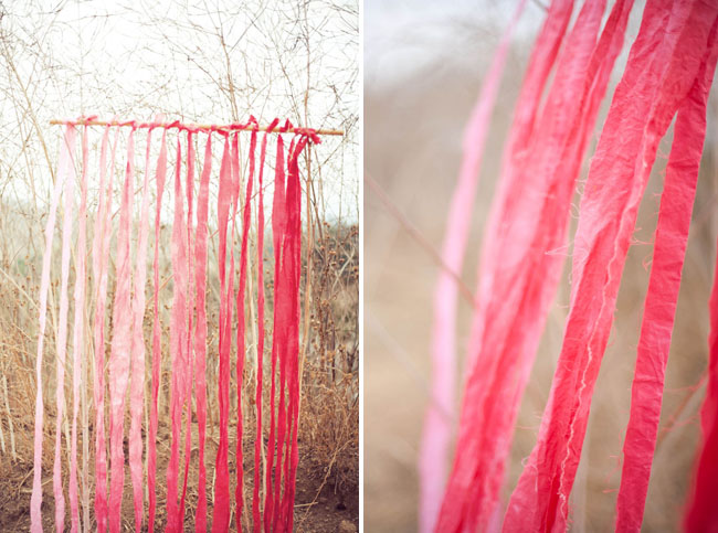 DIY pink ombre fabric backdrop