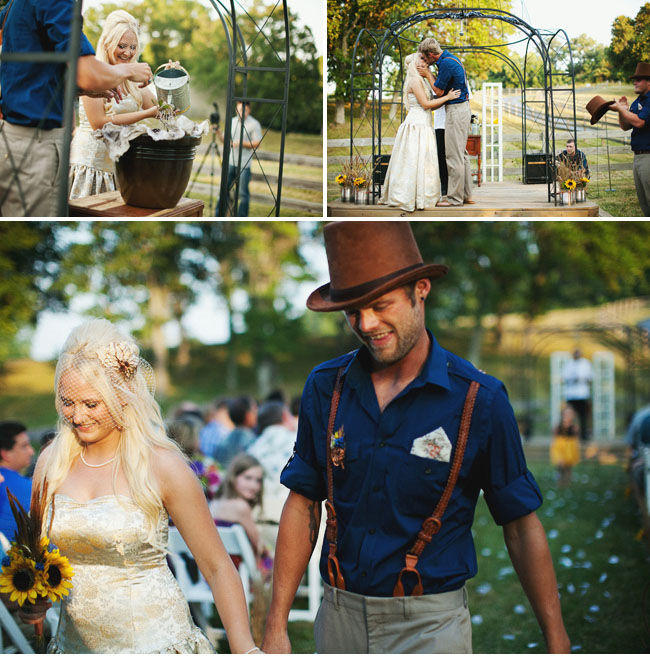 watering plant wedding