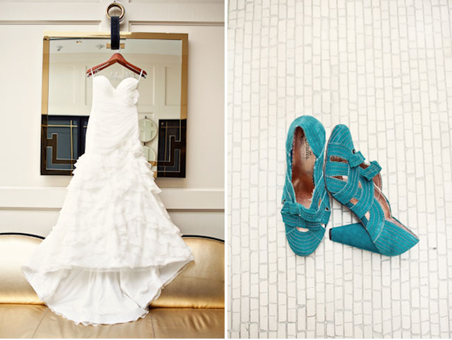 teal strap wedding shoes
