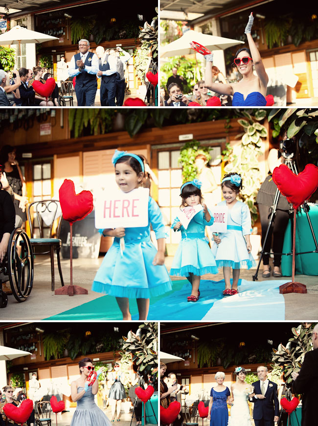 cute flower girls in teal