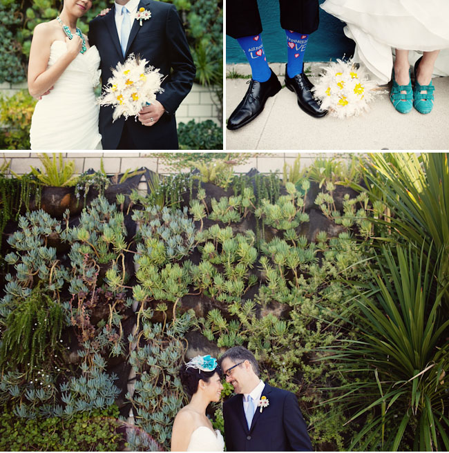 bride and groom beatles wedding