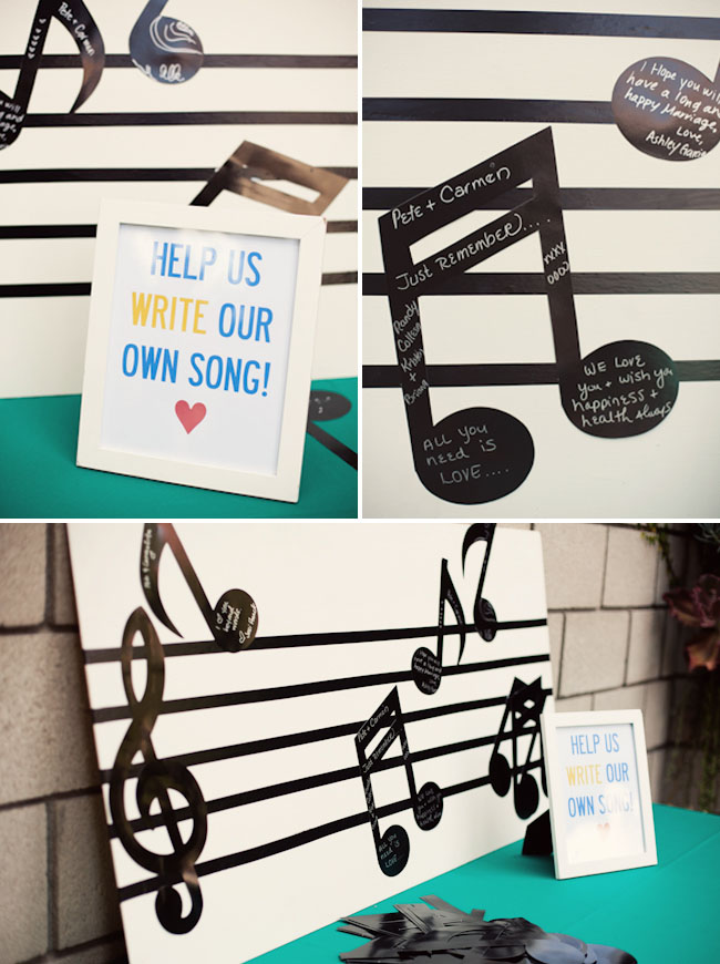music note guest book