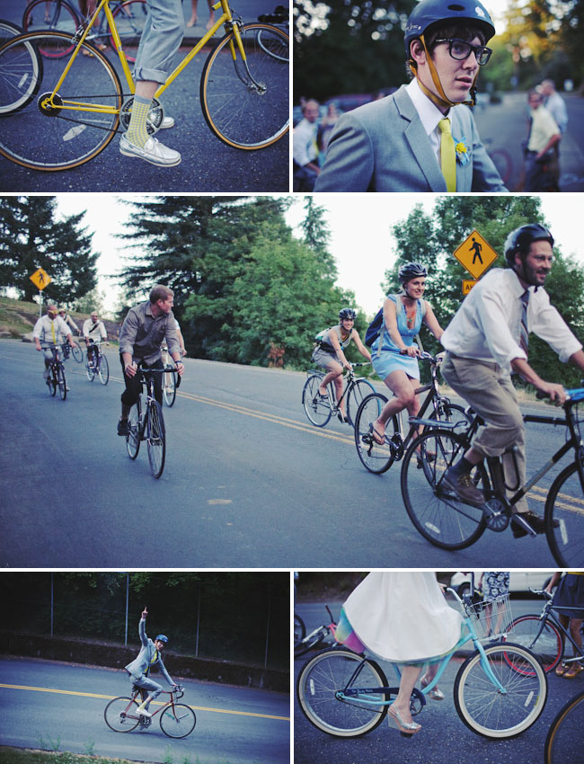 wedding bicycle ride