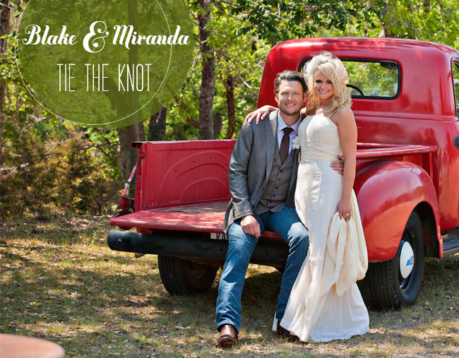 miranda lambert blake shelton wedding