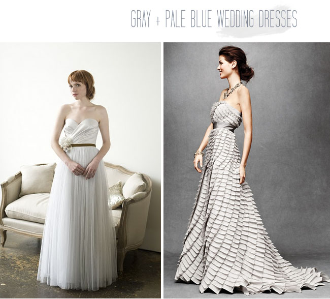 Grey Gowns Wedding: Wedding Dresses With A Touch Of Color