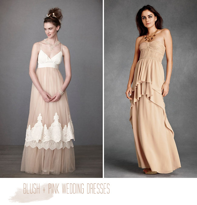 blush wedding dress BHLDN