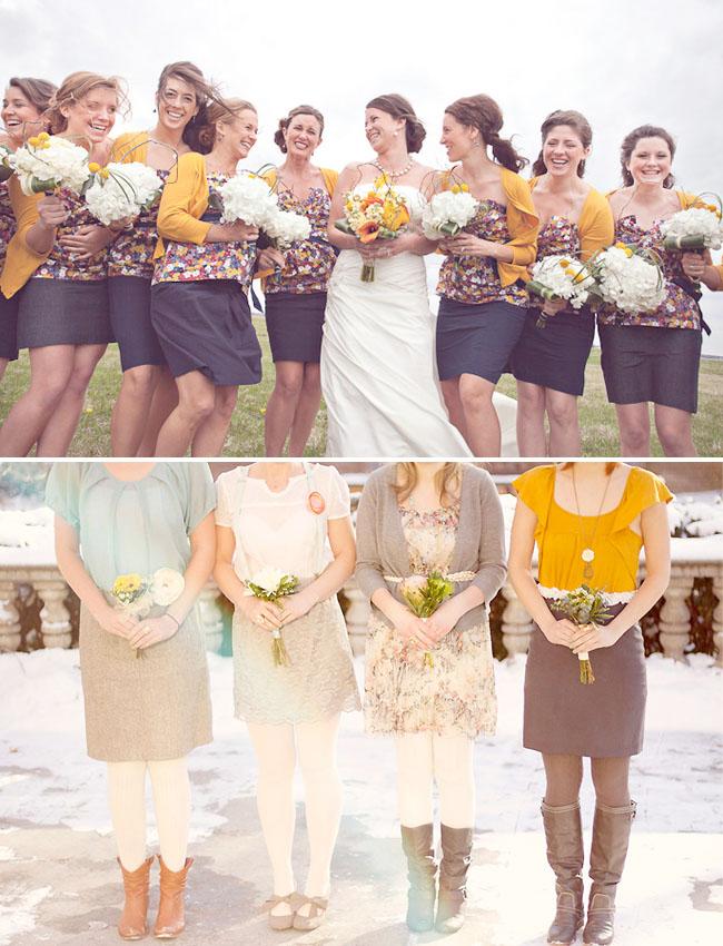 Yellow Bridesmaid Skirts