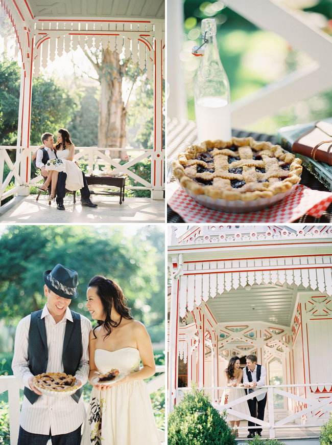 pie engagement session