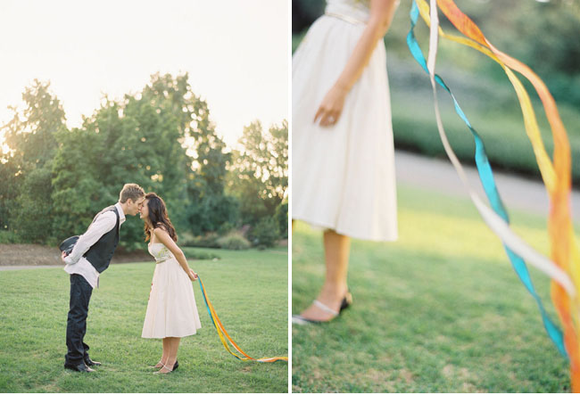 engagement with ribbons