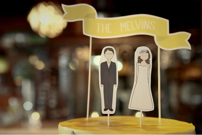 paper doll cake toppers