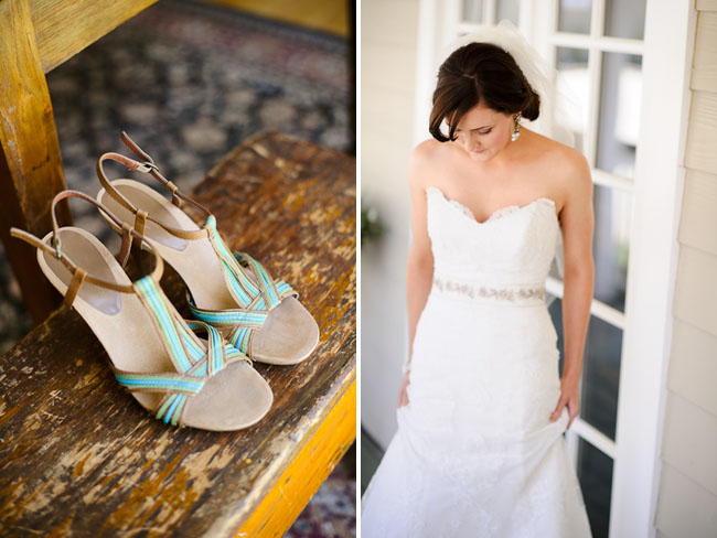 teal strap bridal shoes