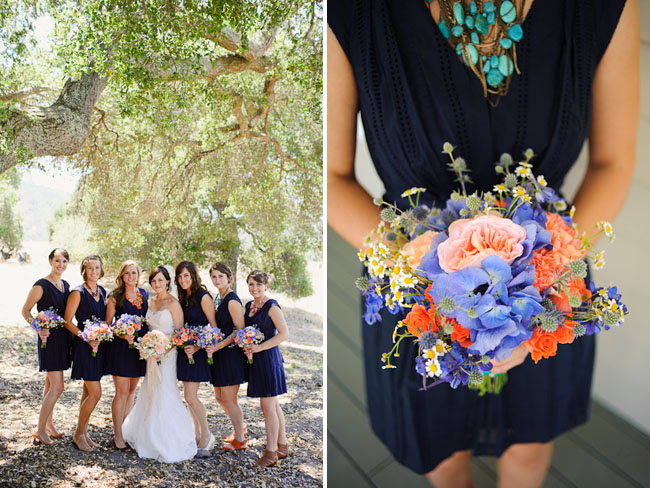 navy bridemaids dresses