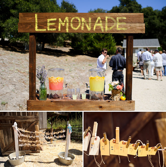 lemonade stand at wedding