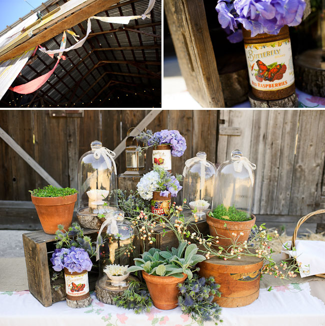 potted plants wedding