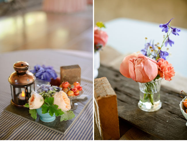 pink and lavender centerpieces