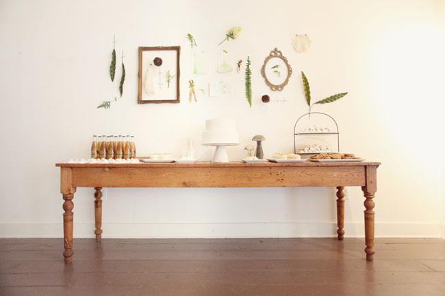 fern dessert table
