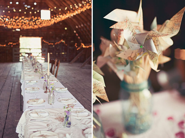 pinwheel wedding decor