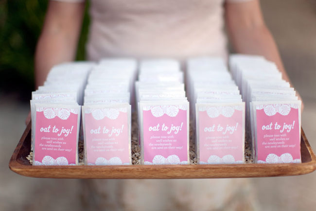 ombre wedding favors